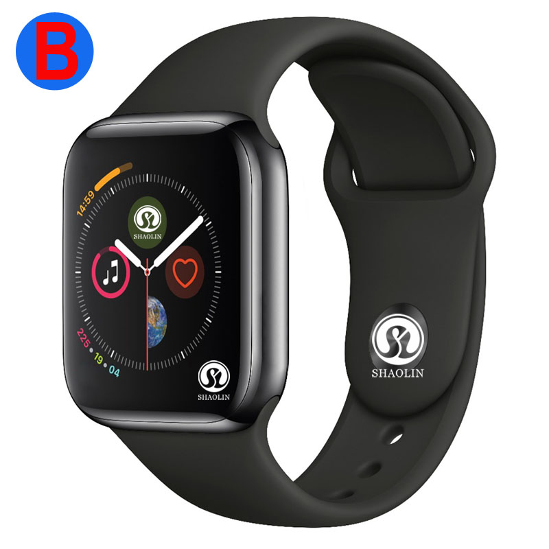 B hommes femmes Bluetooth montre intelligente série 4 SmartWatch pour Apple iOS iPhone Xiaomi Android téléphone intelligent (bouton rouge)