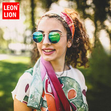 LeonLion 2019 Vintage Alloy Oval Sunglasses Women Classic Glasses Street Beat Shopping Mirror Oculos De Sol Gafas UV400