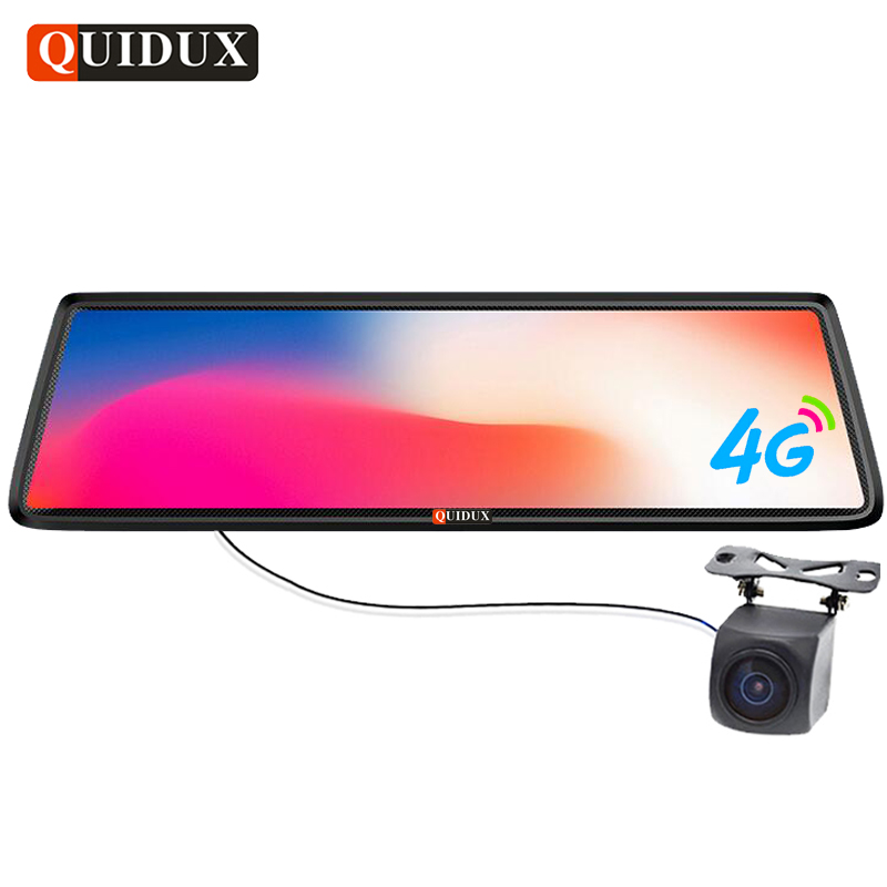 QUIDUX 10 tactile Miroir DVR 4G ADAS Android Full HD 1080 P Voiture Rétroviseur Camara Navigateurs GPS De Voiture Vidéo Registraire enregistreur