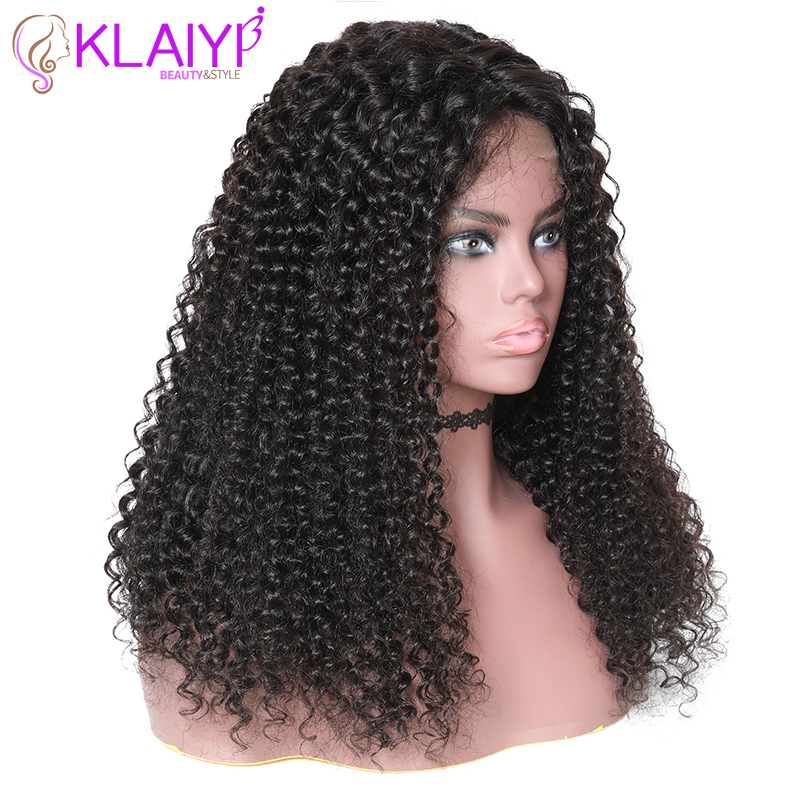 Image 2 - Klaiyi Hair Curly Hair Lace Front Wigs 13*6 Inch Brazilian Remy Hair With Pre Plucked 150% Denisty Human Hair Wig 10'' 24''-in Lace Front Wigs from Hair Extensions & Wigs