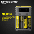 Nitecore Nuevo i4 Cargador Inteligente de La Batería Original 4 Solt con Pantalla LCD de 14500 16340 (RCR123) 18650 22650 26650 aa aaa