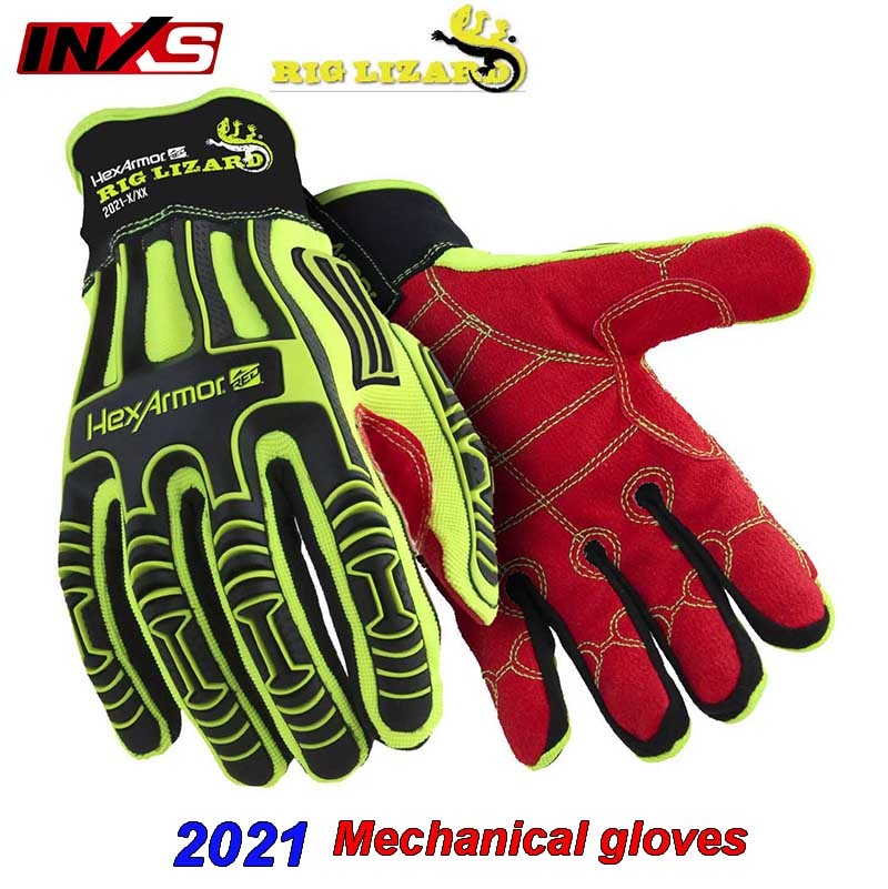 SAFETY-INXS 2021 mechanic gloves Anti-impact Cut-proof Anti-puncture safety gloves Resistant to oil durable Riding work gloves
