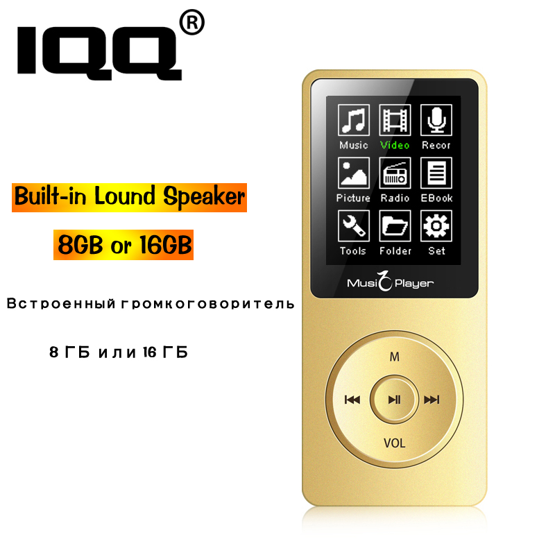 Can play 80h new version MP3 Player Built-in Speaker and 16G with 1.8 Inch Screen Portable Lossless sound Walkman With FM/Record