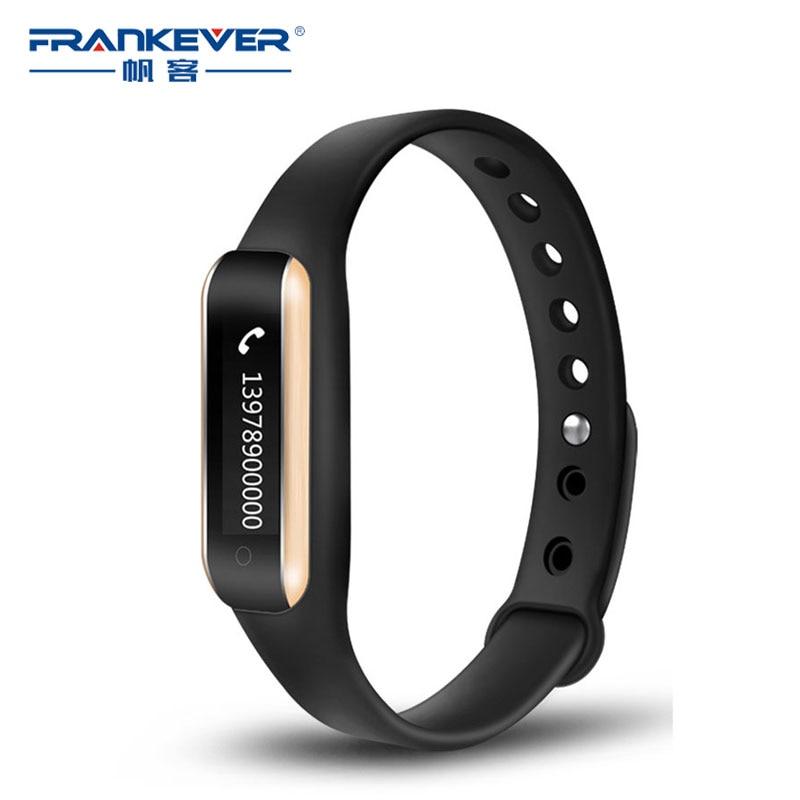 FrankEver Smart Band Bluetooth Sport Bracelet Heart Rate Monitor Wrist Watch Intelligent Fitness Bracelet Waterproof Wristband
