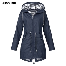 MISSOMO Clothes Women 2019 Solid Rain Jacket Outdoor Jackets