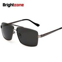 Brightzon фирменный дизайнер Превосходное качество гольф вождения Рыбалка Мужские поляризационные солнцезащитные очки с коробкой HD поляризованные линзы металлические очки