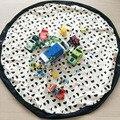 Ins Caliente manta de Bebé juego Juguetes De Almacenamiento Bolsas Niños sala de Decoración Al Aire Libre Lindo Barba Panda Alfombra Redonda Diámetro 140 cm