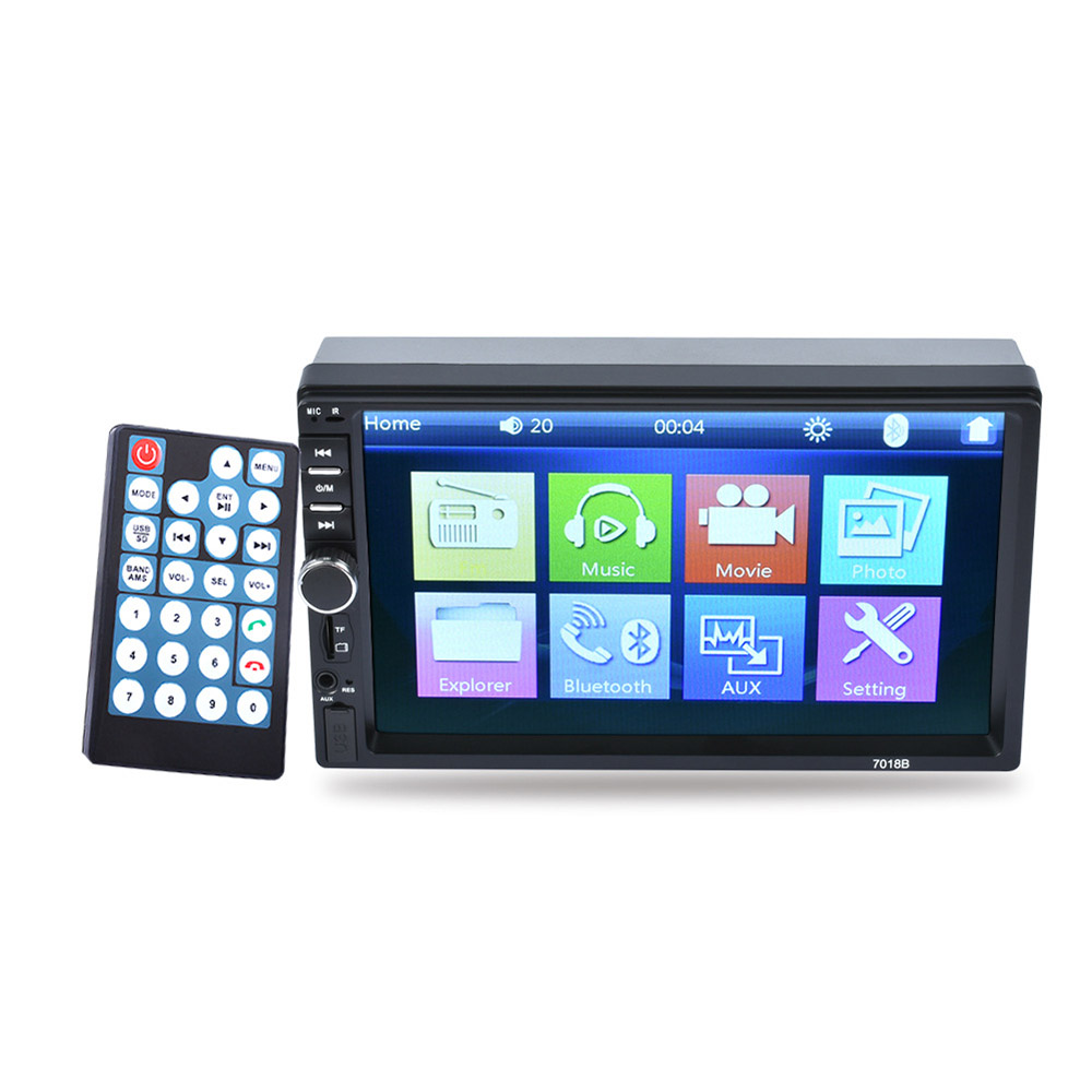 7 Inch Vehicle MP3 MP4 Dual Fixed MP5 Player Radio Car MP5 HD Touch Screen Bluetooth Integrated Machine Car Stereo Radio Display