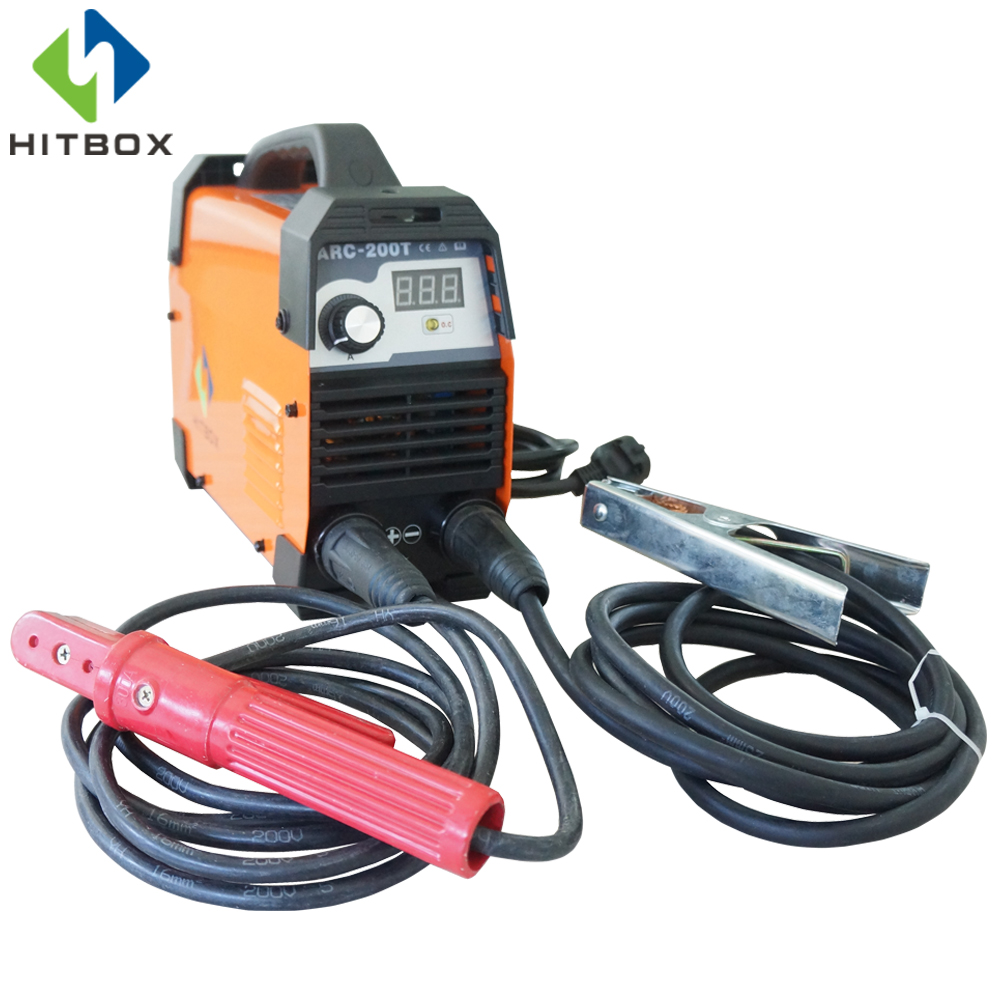 HITBOX ARC200T 220V DC MMA WELDER SMALL SIZE WELDING EQUIPMENTS WITH EARTH CLAMP ELECTRODE HOLDER