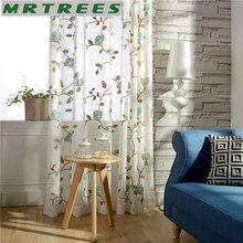Luxus Bestickt Gardinen Fenster Tll Vorhnge Fr Wohnzimmer Schlafzimmer Kche Floral Voile 1