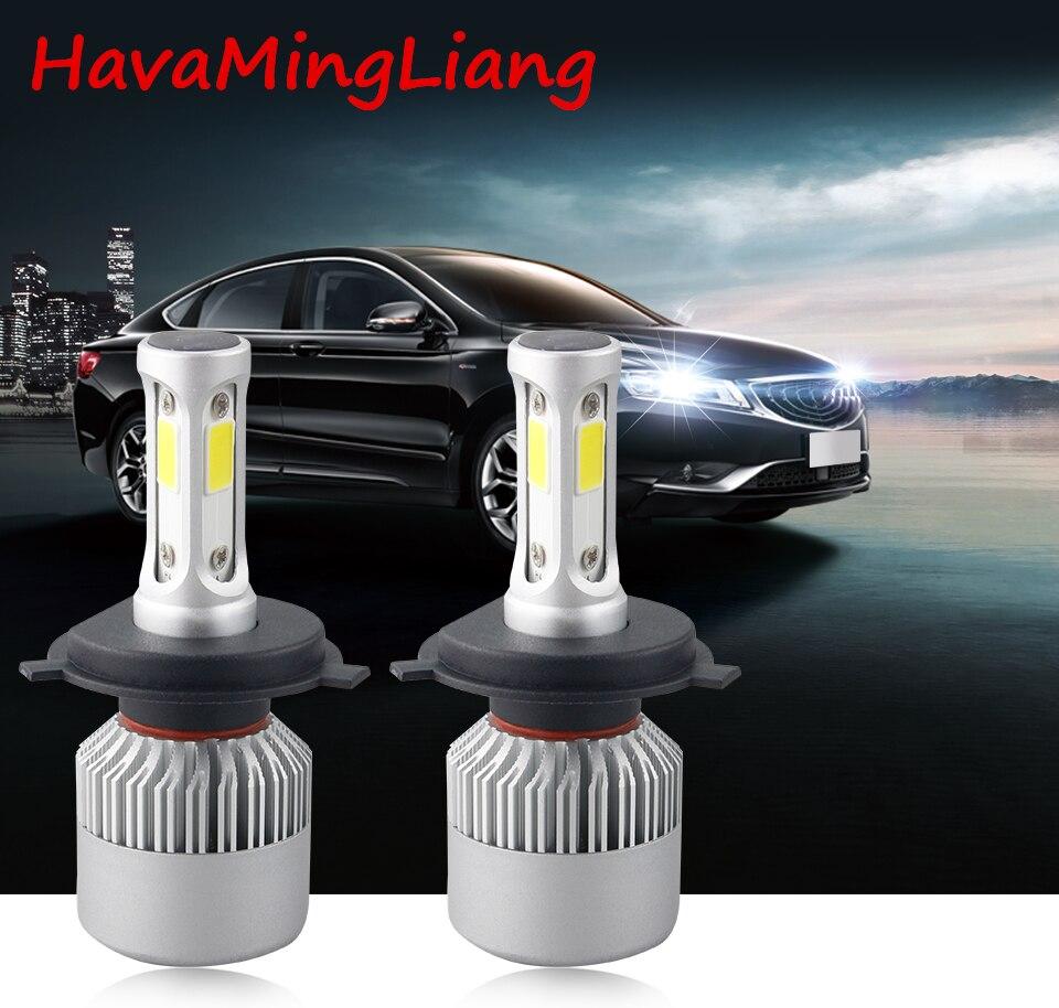 Tête lumière S2 H4 H7 H1 COB LED Phare Ampoules H11 H13 12 V 9005 9006 H3 9004 9007 9012 72 W 8000LM Voiture LED lampe Lumière de Brouillard 6500 K