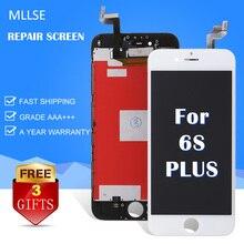Mllse pour iphone 4 5s 5c 6 6 + 6 s plus lcd affichage LCD Avant Écran Blanc Lentille En Verre Digitizer Cadre Assemblée Remplacement réparation