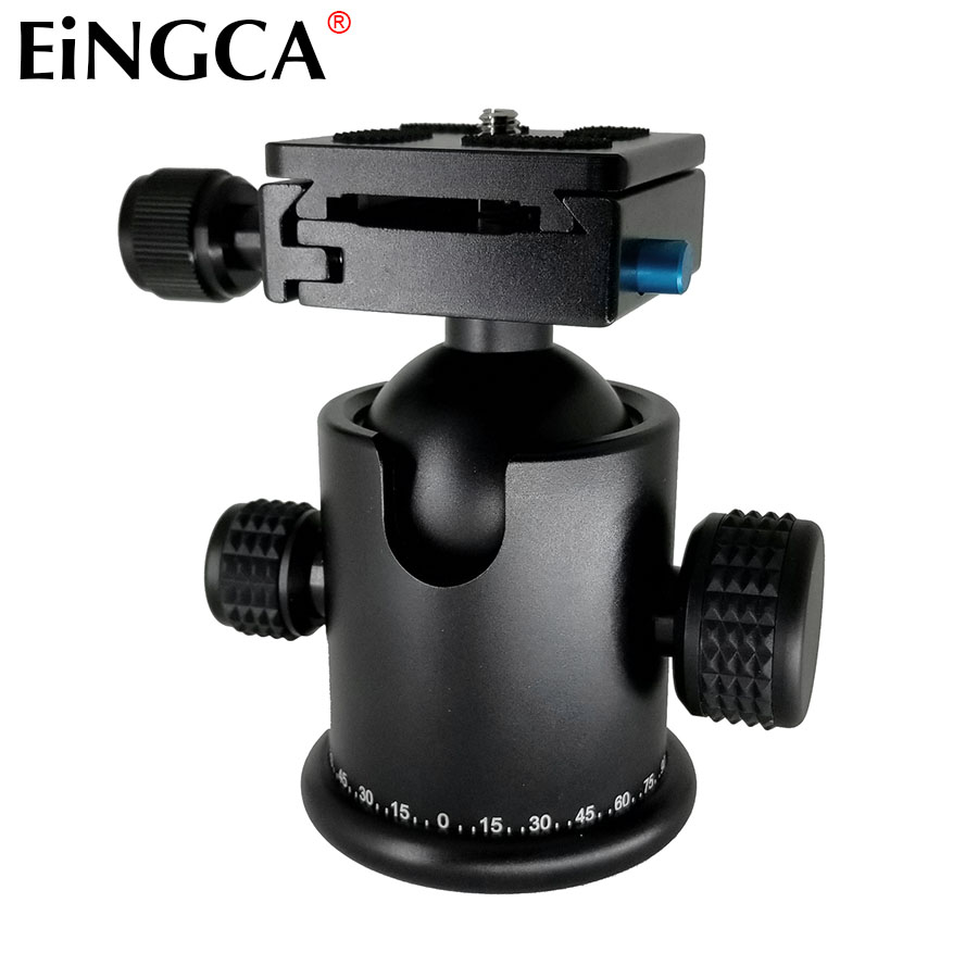 цена на NEW DSLR Camera Professional Tripod Ball Head With Quick Release Plate 1/4 Screw Mount for Canon Nikon Sony Camera Accessories