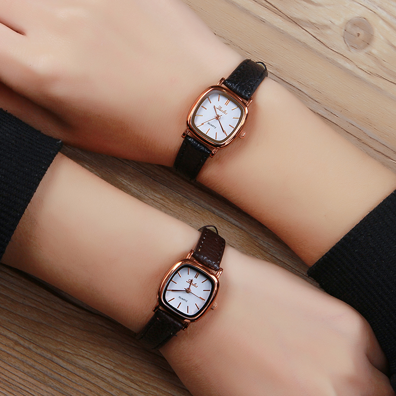 Luobos Small Dial Women Watch Fashion Casual Leather Quartz Wrist Watches Ladies Hot Sale Simple Style Watched Relogio Feminino retro small dial watch women simple desingn thin belt casual watches womens vogue pu leather analog quartz wrist watch reloj n