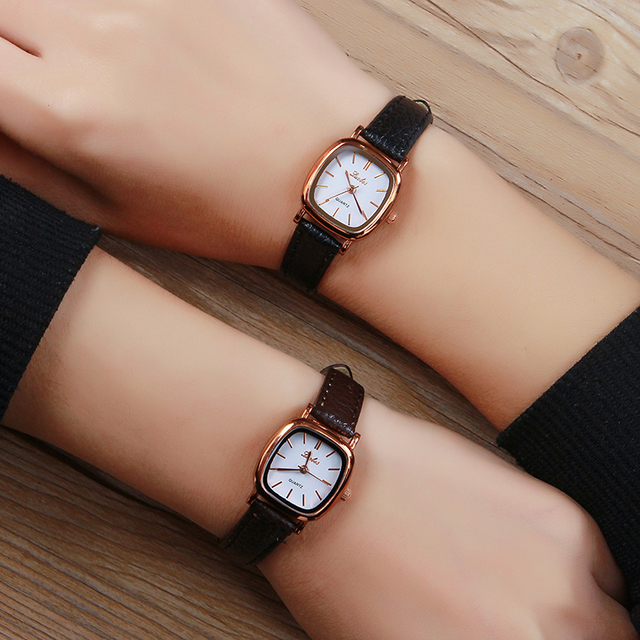 Luobos Small Dial Women Watch Fashion Casual Leather Quartz Wrist Watches Ladies