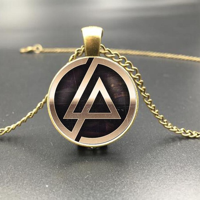 5 Color Linkin Park Pendant Men Necklace Rock Band Gold Color Pendant Necklace F