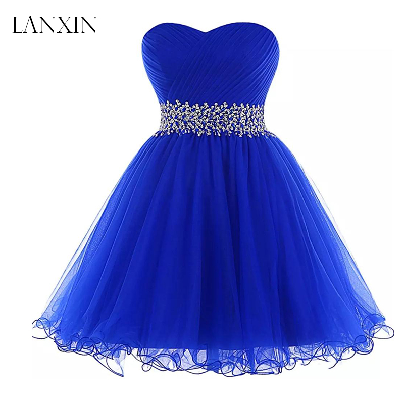 US $70.83 8% OFF|Royal Blue Short Tulle Homecoming Dresses for Juniors  Sweetheart Beadings Women Sweet Graduation Party Gown Plus Size-in  Homecoming ...