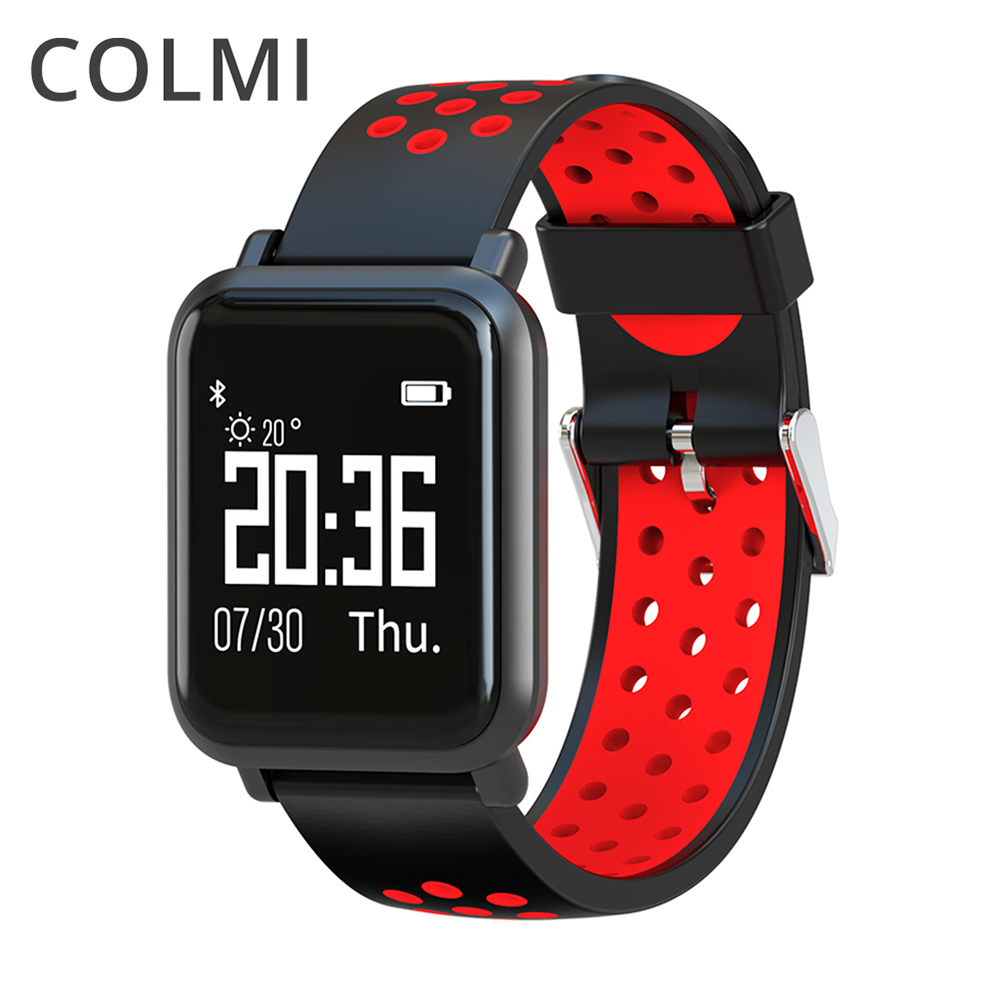 COLMI Smart Watch OLED Screen Heart Rate Blood Oxygen Pressure BRIM IP68 Waterproof Activity Tracker For Android and IOS Phone