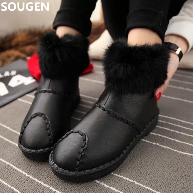 New Boots font b Women b font Winter Shoes Australian Ankle Black Snow Australia Brand Waterproof