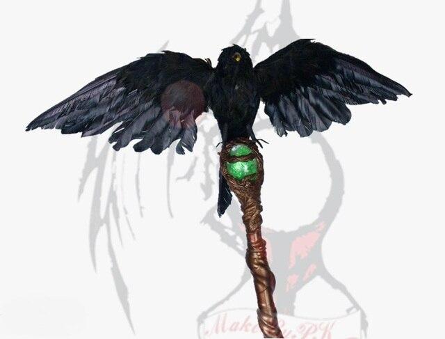 """عصا Maleficent ساحرة داكنة تأثيري عصا سحرية تأثيري الدعائم نموذج جمع جودة عالية 55 """"طول"""