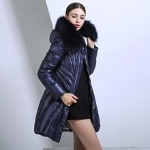 Plus size 2016 winter Jacket Women down Jackets Women's Down Coat Fur hood thicken coats medium-long Duck down Outerwear Parka