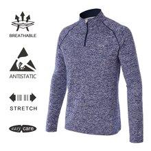 EAGEGOF воротник стойка с длинными рукавами футболки для гольфа мужская одежда для гольфа 1/4 на молнии спортивные пуловеры весна осень keepwarm уличная одежда