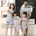 Family Set Father Mother Child Family Matching Sets Outfit for Boys Girls Stars Print Tee Shirt+Pants Summer Beach Set