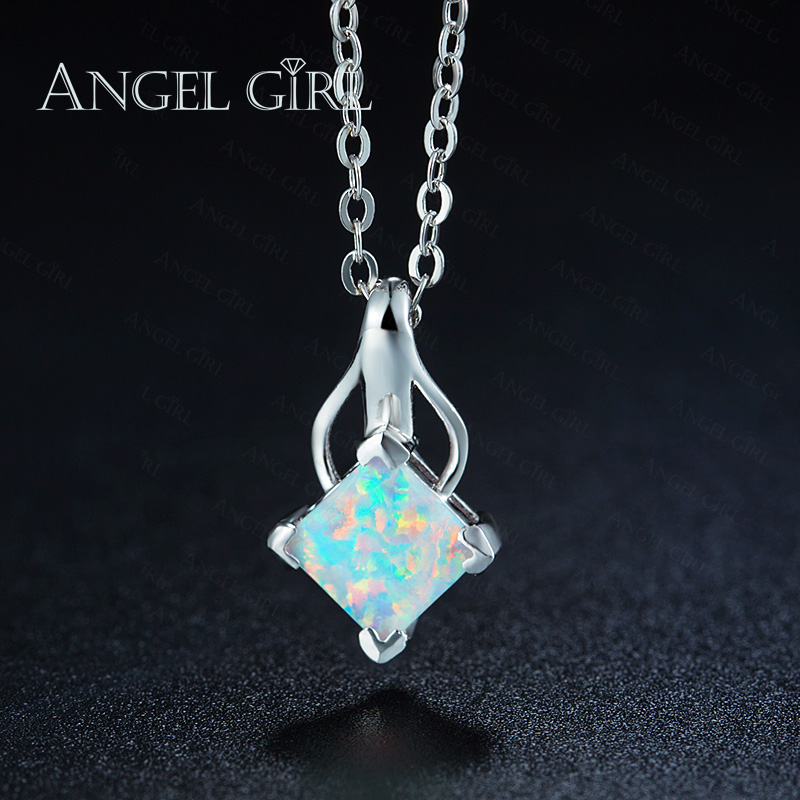 Angel girl new arrival opal jewelry necklace pendant white gold angel girl new arrival opal jewelry necklace pendant white gold color with white opal pendant for women at wedding lover gift in pendants from jewelry aloadofball Gallery