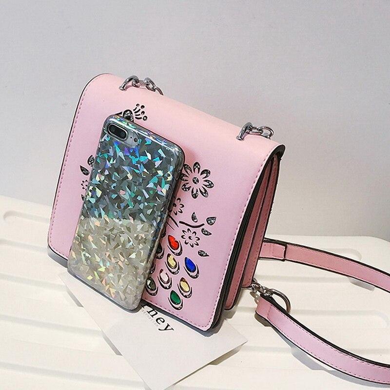 DIINOVIVO Brand Peacock Women Summer Handbags Fashion Rhinestone Shoulder Bag Small Hollow Out Flap Hand Bag Wholesale WHDV0528