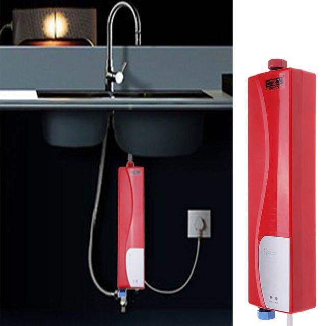 3000 W Haushalts Tankless Elektrische Dusche Durchlauferhitzer Für Küche  Bad Praktische Weiß
