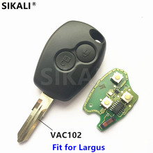 2 buttons Car Remote Key 433MHz for Lada Largus PCF7946 Chip