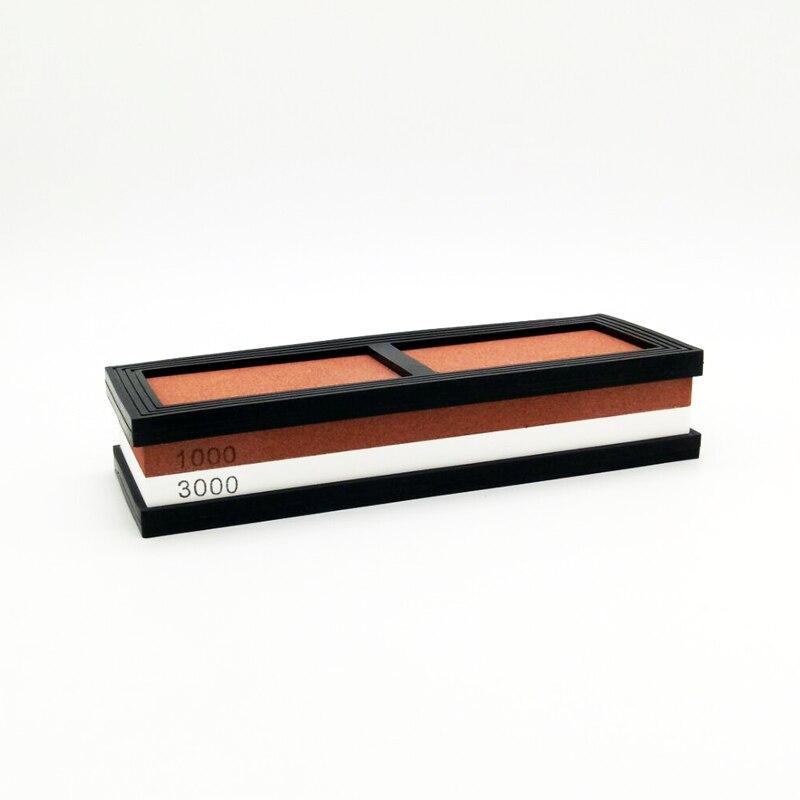 NHM Kitchen knife sharpener 1000/3000 grit corundum whetstone oil stone honing stones grinding tool grindstone