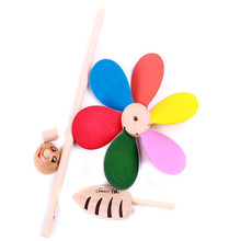 Baby Toy Colorful Wood Windmill Can be Assembled Interesting and Good Quality Toys 1 Lot= 20 Pcs