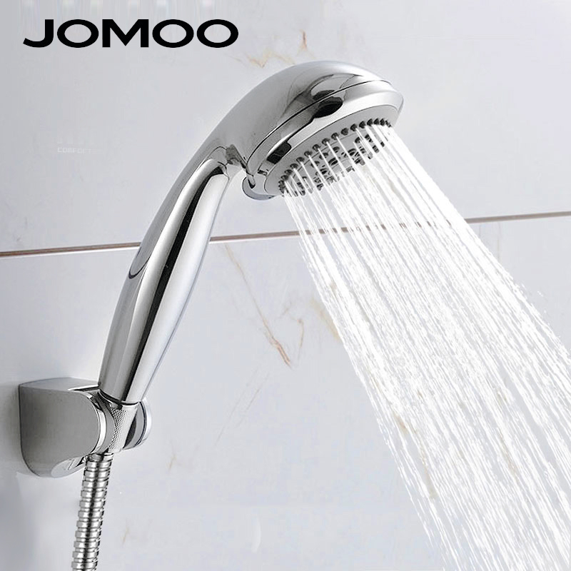 JOMOO Bathroom Shower Bath Shower Set Waterfall ABS Round Shower Head With Shower Hose Wall Bracket Hand Hold Showerhead S02015 jomoo 4 inch 3 jet bathroom shower head chrome hand shower with wall bracket stainless steel hose ducha chuveiro water saving
