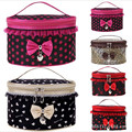 Portable Travel Toiletry Makeup Lace Bow Cosmetic Bag Organizer multifunctional Holder Handbag High Quality Free Shipping S478