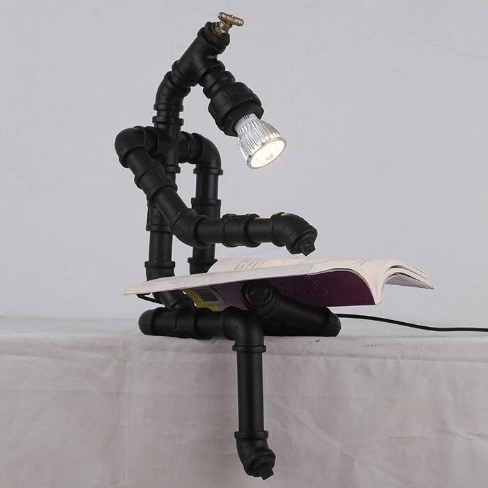 Ретро творческих индустрий ветер личность водопроводные трубы роботы кофе исследование декоративные творческий настольные лампы LO72710