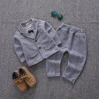 Baby Boys Formal Suits For Weddings Kids Performance Party Blazer Shirts Pants 3pcs Tuxedo Clothing Set Child Gentleman Costume