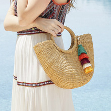 New Bohemia Fashion Colorful Layered Cotton Tassel Bag Keychain For Women Key Ring Pendents Accessories Wholesale