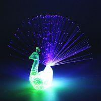 Uds LED resplandeciente luz para dedo con pavo real luminosa anillo juguete Flash chico fluorescente brillante neón intermitente fiesta decoración de regalo