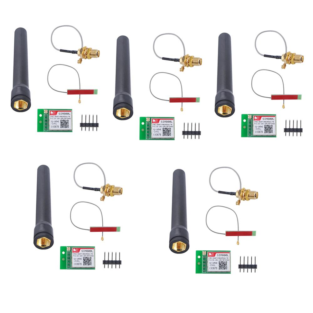 5Pcs/lot SIM800L GPRS GSM Module With PCB Antenna & Black Antenna Bomb Slot Automatic MicroSIM Card RCmall FZ1036