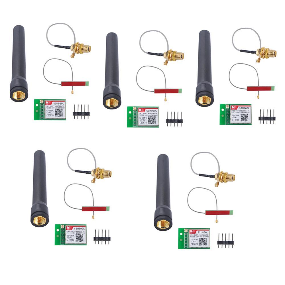 5Pcs/lot SIM800L GPRS GSM Module With PCB Antenna & Black Antenna Bomb Slot Automatic MicroSIM Card RCmall FZ1036
