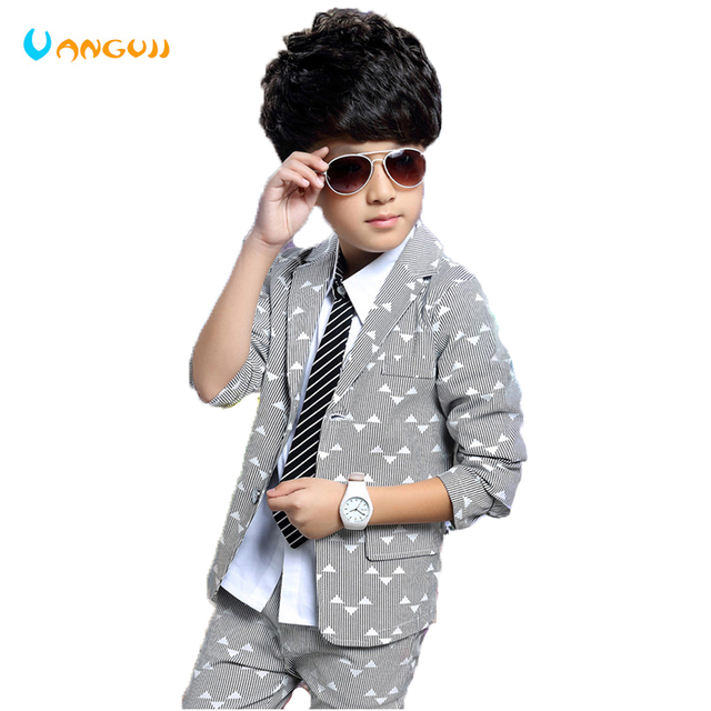 Boys Blazer Suits 2 Piece Sets For Kids 4 13 Years Old Boys Clothes