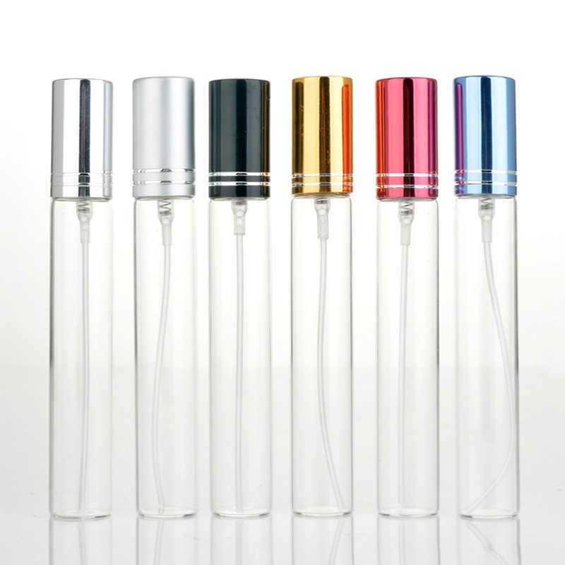 09e8d797b9f9 100Piece/Lot 10ml Refillable Perfume Bottle Empty Mini Spray Bottle  Aluminium Perfume Bottles Atomizer For Travel Container Pump