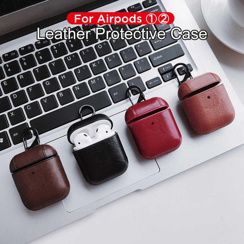 高級アップル AirPods Bluetooth ワイヤレスイヤホンのため空気ポッド 1 2 Funda 充電ボックスケース