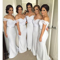 Sexy Off the Shoulder Long Lace Bridesmaids Dresses Formal Gowns Wedding Party Dresses for Bridesmaid Short Sleeves