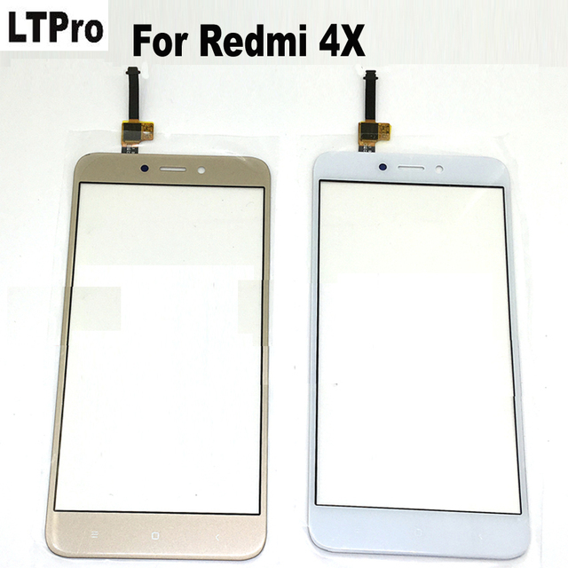 LTPro 100% Tested Black/White/Gold Glass Panel Touch Screen Digitizer For Xiaomi Redmi 4X Mobile Phone Replacement parts