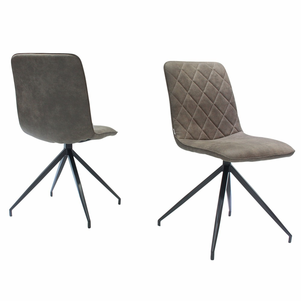 Industrial Style Dining Chairs Wheelchair Zoo Fancyfix Living Room Chair Vintage Ergonomic Backrest Microfibre Set Of 2 Dropship