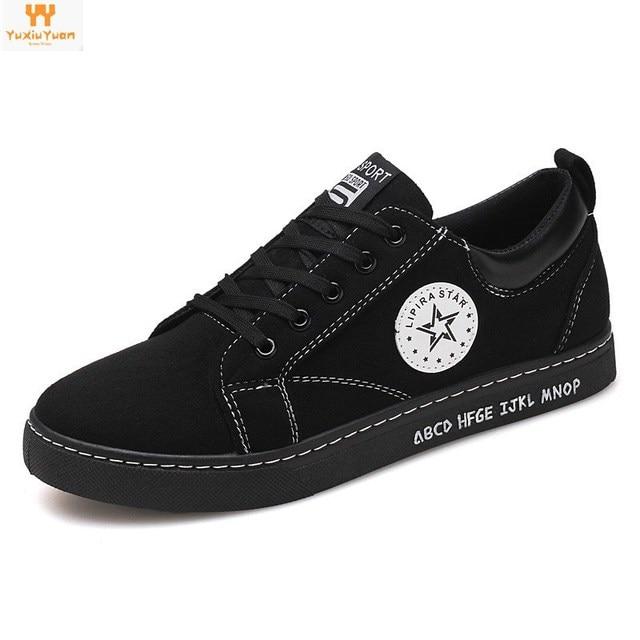 online store b9394 3f4c6 OFERTA ESPECIAL Real 2018 moda transpirable skate zapatos casuales  antideslizante Zapatillas de lona Zapatillas Para patineta