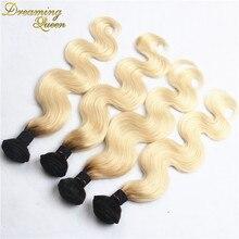 4 Bundles Brazilian Body Wave 1B/613 Ombre Brazilian Hair 7A Platinum Blonde Virgin Hair Body Wave Mixed 10″-28″ Ombre Remy Hair