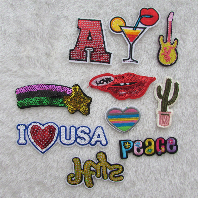 Hot Sale Logo Patches Stripes Hot Melt Adhesive Applique Embroidery